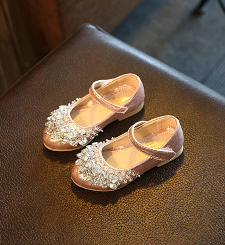 Toddler & Little Girl Shoes-Light Pink Sparkle Rhinestones Flower Girl Shoes  This very soft shoes made of PU leather, rhinestone & rubber Perfect for weddings, birthday, communion, baptism, christmas or baby shower gift