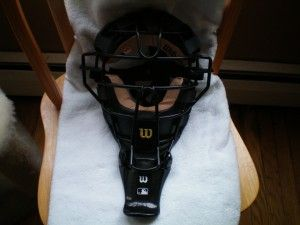 Wilson Chrome Moliben Umpire Mask with Leather Padding (#A3077)