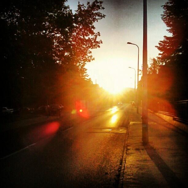 """@tczpeti's photo: """"Külvárosi naplemente"""""""