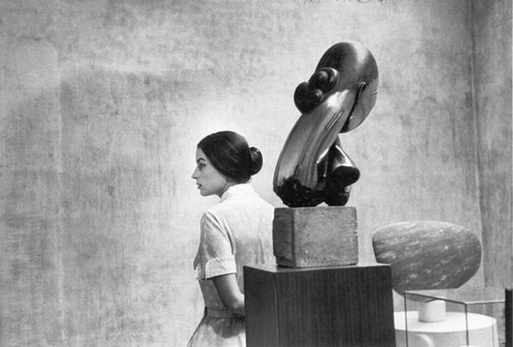 Silvana Mangano at the Museum of Modern Art, New York.1956.