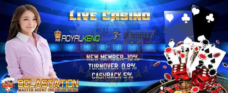 Berlaku untuk permainan Sbobet Casino, Ion Casino, dan Royal Keno. Bonus 10% Member Baru, DP Minimal 500.000, Syarat TO 8x DP + Bonus . Maksimal Bonus adalah sebesar Rp 1.000.000.-