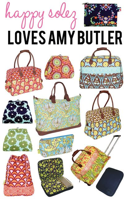 Travel Bags by Amy Butler!