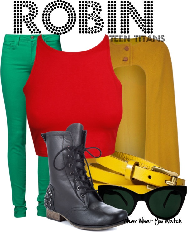 Inspired by Teen Titans character Robin.