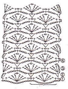 Patroon sjaal met bloemen