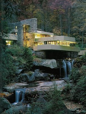 frank lloyd wright falling water amazing architecture pinterest architektur moderne. Black Bedroom Furniture Sets. Home Design Ideas