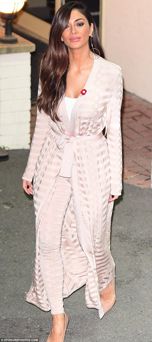 Nicole Scherzinger wears striped co-ord as she leaves X Factor relieved | Daily Mail Online