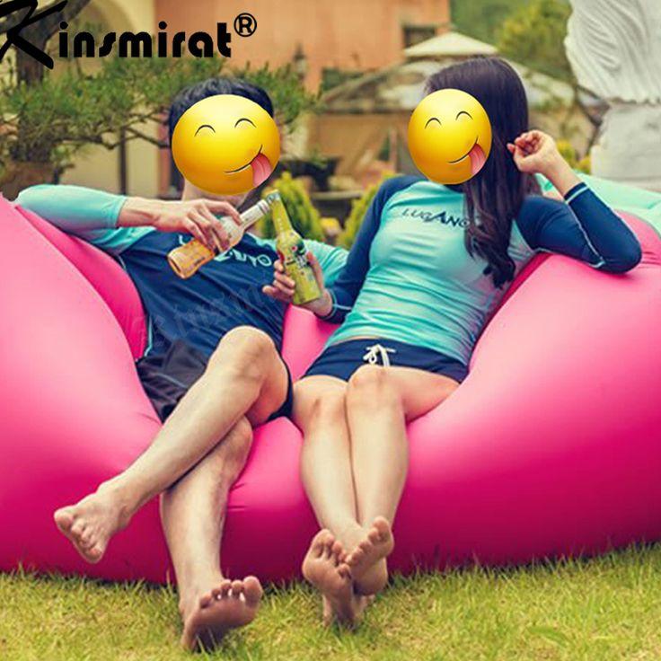 Bolsa de bolsa de Aire inflable airbag laybag perezoso sofá Del Ocioso al aire libre Saco de dormir Saco de dormir de Aire Rápida Inflable colchón de Camping