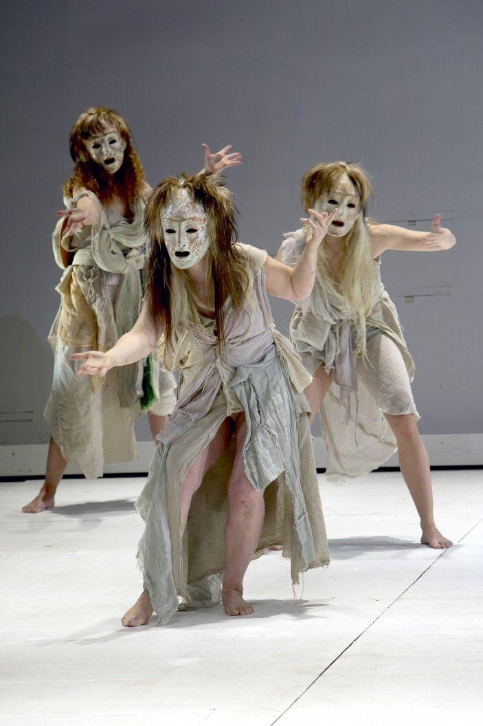 Hauntingly beautiful: Traditional Greek chorus masks by Thanos Vovolis.