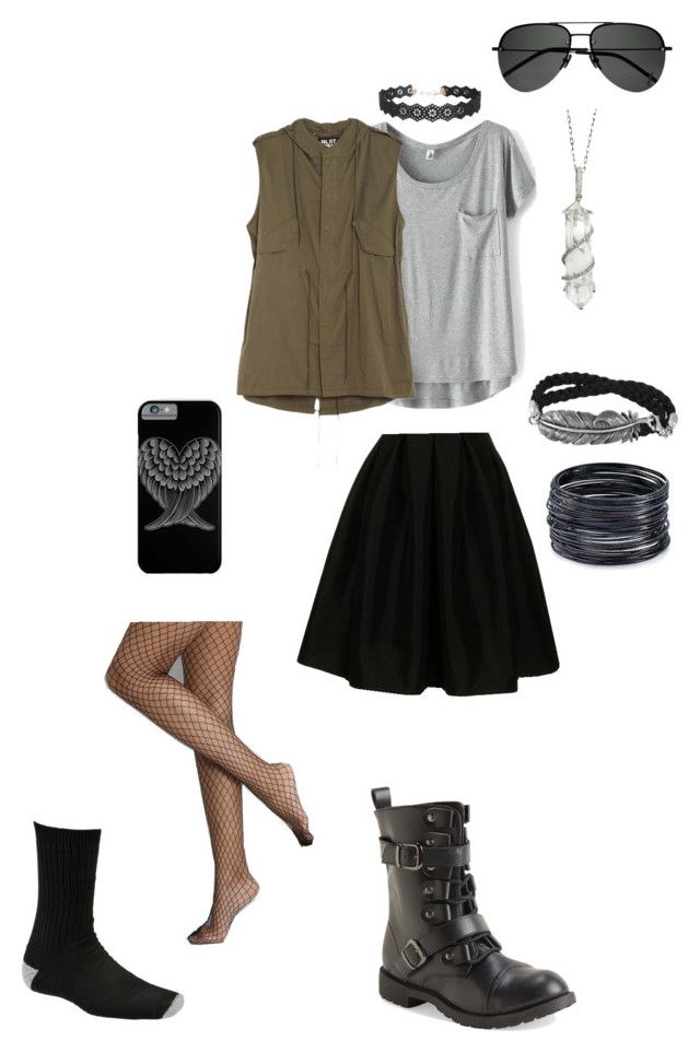 """Raven Rosewood"" by estellerosewood on Polyvore featuring Fashionomics, Aéropostale, ABS by Allen Schwartz, NLST, Sharon Khazzam, Humble Chic, Rare London, Wigwam and Yves Saint Laurent"