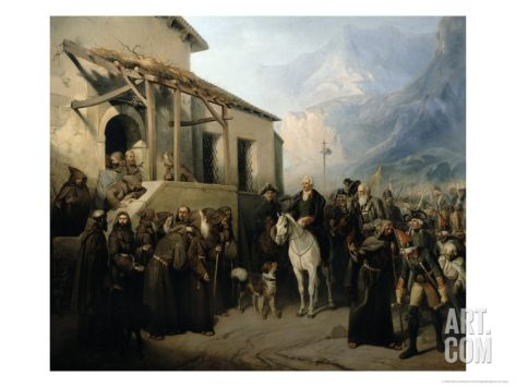 Field-Marshal Alexander Suvorov on the St Gothard Summit, 13th September 1799, 1855 Giclee Print by Adolf Jossifowitsch Charlemagne at Art.com