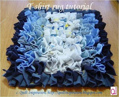 Quilt Inspiration: Waste not, want not: T-shirt rug tutorial