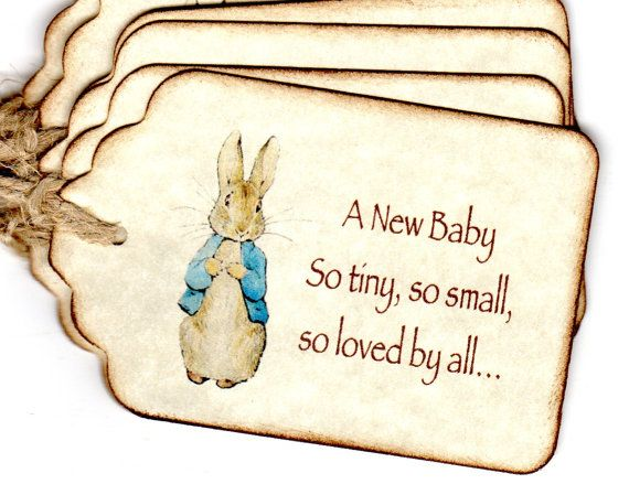 Love this phrase!  use somehow for sure.  25 Baby Shower Favor Tags / Baby Tags / Gift Tags by luvs2create2, $16.00 Etsy