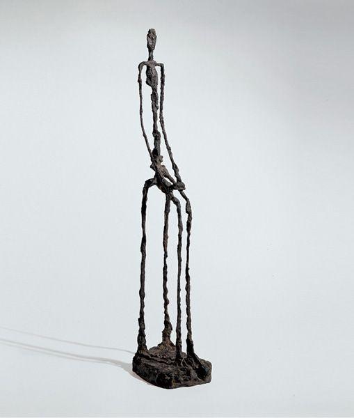 Alberto Giacometti, (Femme assise), 1946, bronze, cast 2/6, Susse Fondeur Paris, 77 x 14.5 x 19 cm