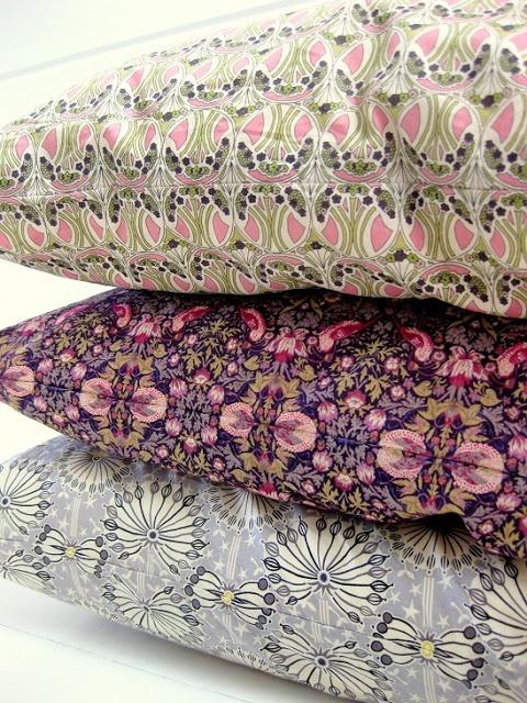 Liberty Fabric pillows.