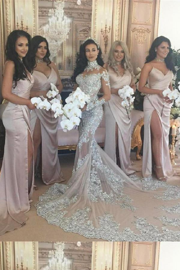 Discount Engrossing Bridesmaid Dress Pink, Blush Bridesmaid Dress