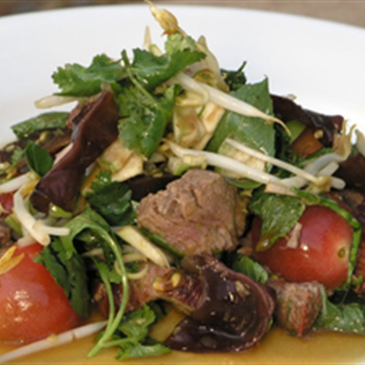 Try this Thai Beef Salad recipe by Chef Tobie Puttock. This recipe is from the show Tobie