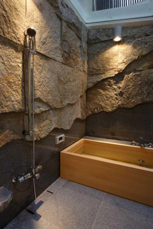Fancy taste of Japanese bathroom for the rich.