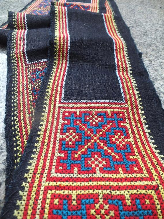 Vintage Hmong Fabric, handmade