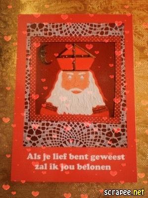 ~Prentenkaart Sint n.a.v. mijn schilderij~