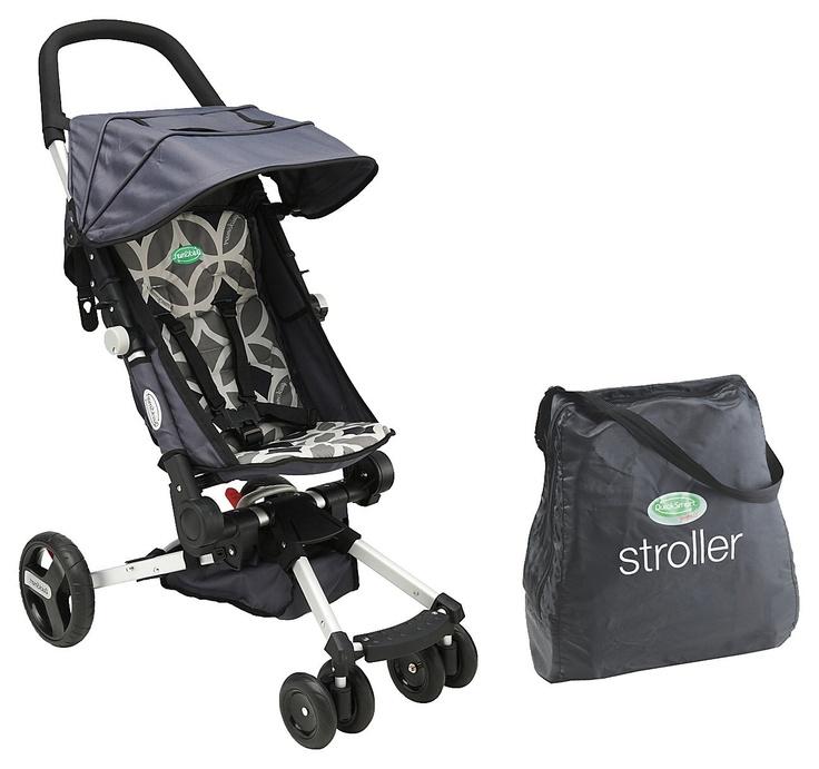 QuickSmart Easy Fold Stroller Geometric Gray Best