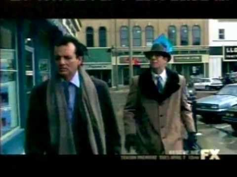 Bill Murray in the Ned Ryerson Scenes with Stephen Tobolowsky in Groundhog Day. Amazingly talented comedic actors both of them!!