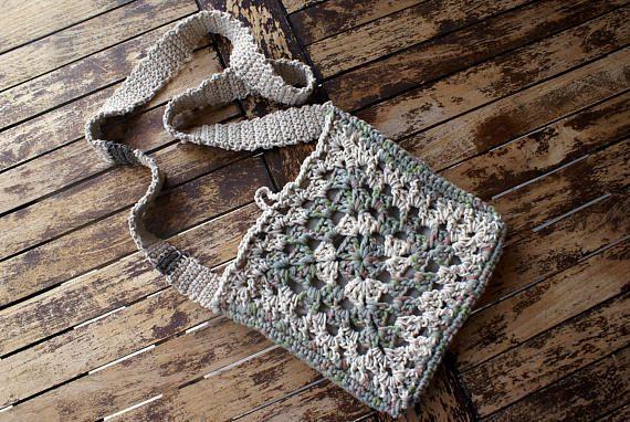 Granny square crossbody bag Crochet handbag Small shoulder bag
