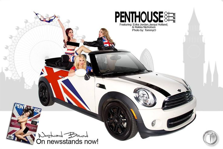 The Best of British. Westward Bound #Latex and the iconic British Mini Cooper, beautifully shot by the legendary TommyO Photography in Los Angeles, California for the 50th Birthday Edition of Penthouse Magazine. Models: Erika Jordan, Jacqui Holland and Rekka Nicholson. Garments Shown: Britannia Latex Dress. www.westwardbound.com/R1318 Britannia Latex Bra. www.westwardbound.com/R1322 www.westwardbound.com/R1323 www.westwardbound.com/R1325