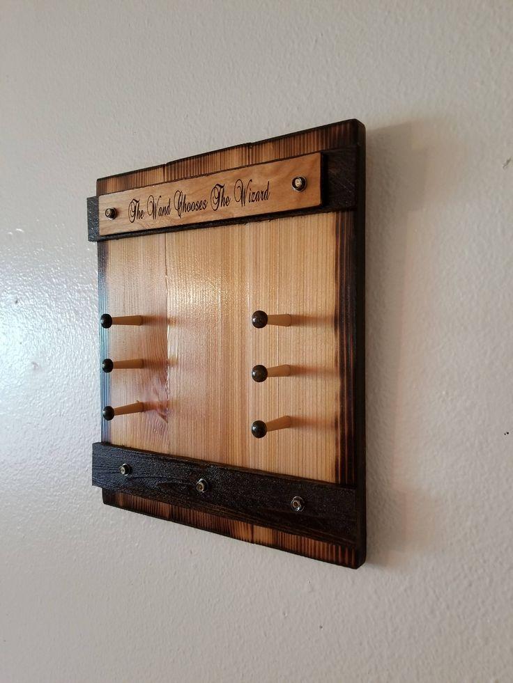 Wand holder holds 3 wands wand rack wand display for Elder wand display