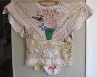 reserved for s FARMHOUSE SALVAGE DRESS Apron Maxi