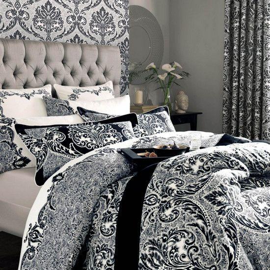 Dorma Black Verona Bedlinen Collection | Dunelm