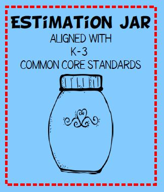 FREE estimation jar lesson - aligned with K-3 CCSS