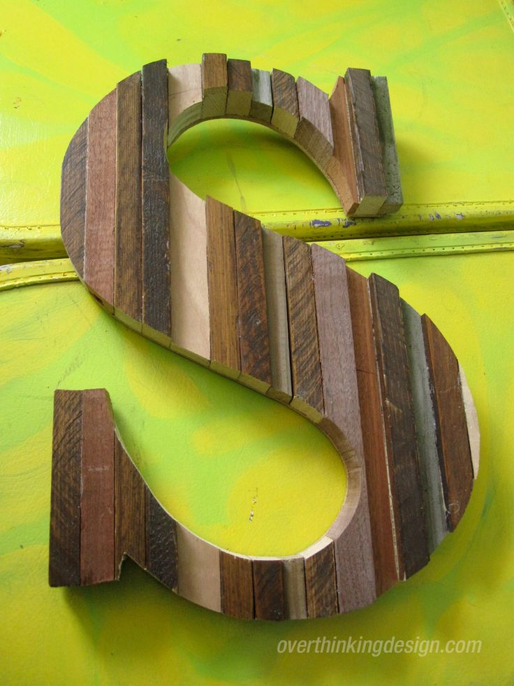 How to create a large letter using scrap wood | Overthinking Design