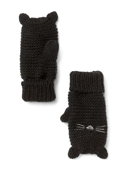 Gap Baby Kitten Mittens True Black