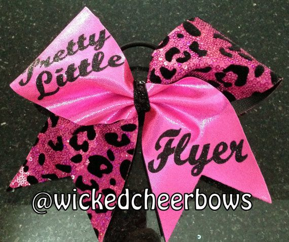 Cheer Bow  Pink Pretty Little Flyer by WickedCheerBows on Etsy, $12.50
