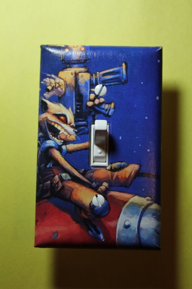 Rocket Raccoon Light Switch Cover Guardians of the Galaxy superhero room decor