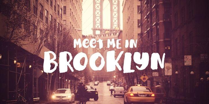 Meet Me In Brooklyn - Webfont & Desktop font « MyFonts