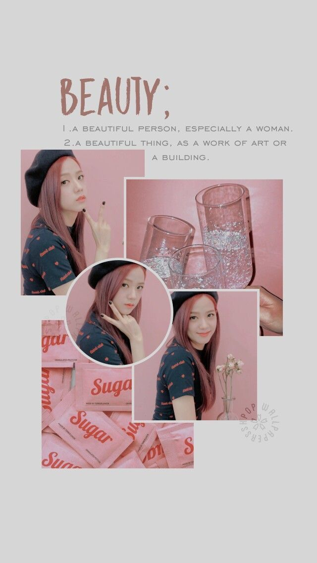 Jisoo Blackpink Aesthetic Kpop Wallpaper Ponsel Pastel Latar Belakang