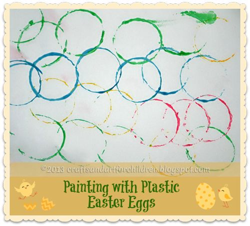 Crafts~N~Things for Children: Painting with Plastic Easter Eggs