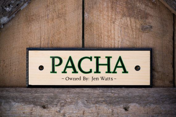 Custom Name Horse Stall Sign by SimplyEquineDesign on Etsy