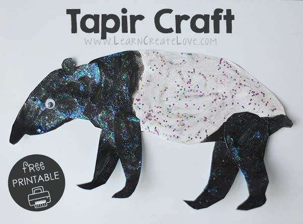 tapir coloring pages for kids - photo#33