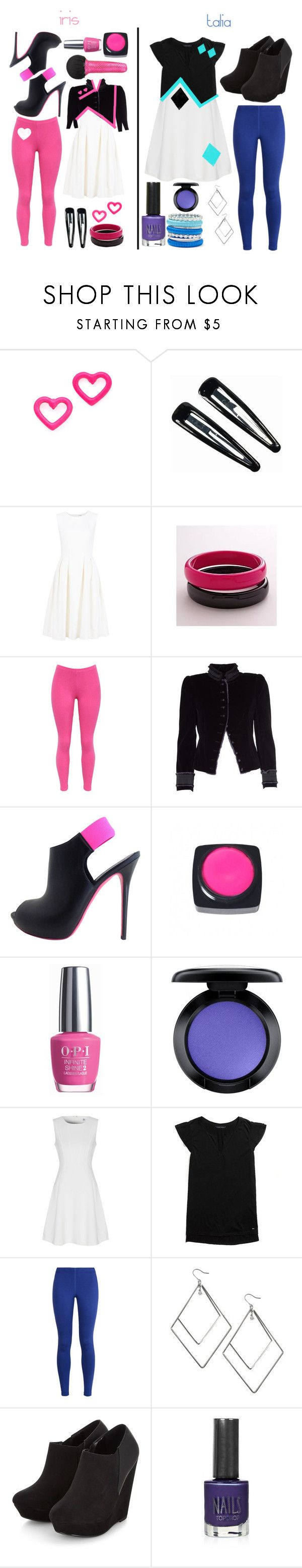 """""New Star Generation"" music video outfits (Talia and Iris)"" by lilithgemini ❤ liked on Polyvore featuring Marc by Marc Jacobs, Clips, ADAM, WithChic, Marc Jacobs, Alexander McQueen, OPI, MAC Cosmetics, True Decadence and Tommy Hilfiger"