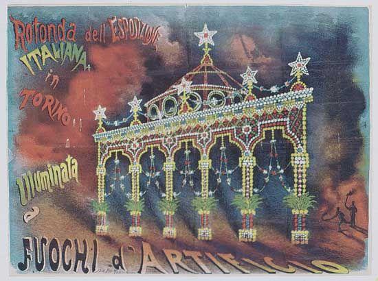 Fuochi d'artificio all'Esposizione. Torino 1884