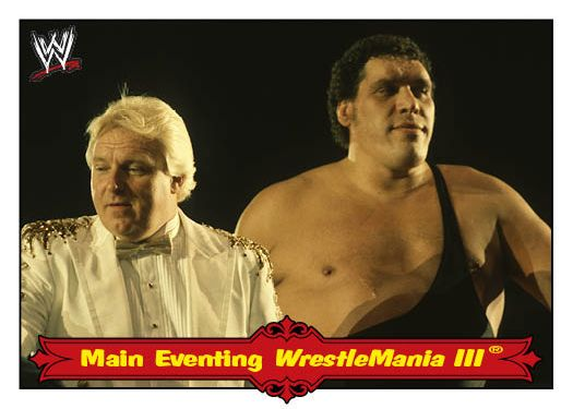 Bobby Heenan and Andre the Giant : Wrestlemania