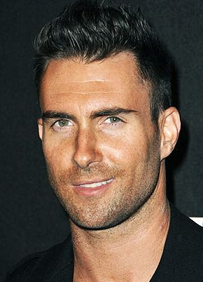 Adam Levine. So have a crush on him. After hearing he and his girlfriend on Howard stern, I heart him even more. So sexy!!!!
