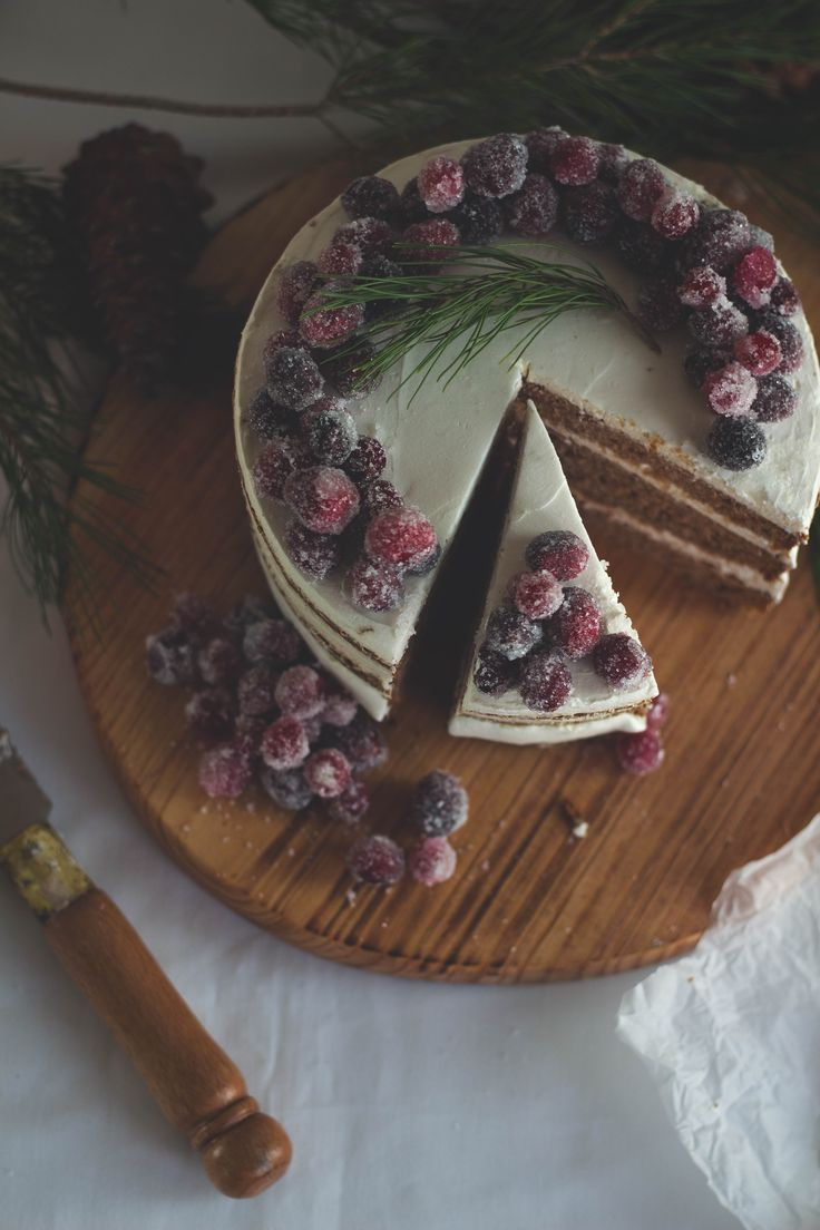 We are loving this simple cake with sugared berries. It is both photo-op worthy and looks like you should just bite right into it!