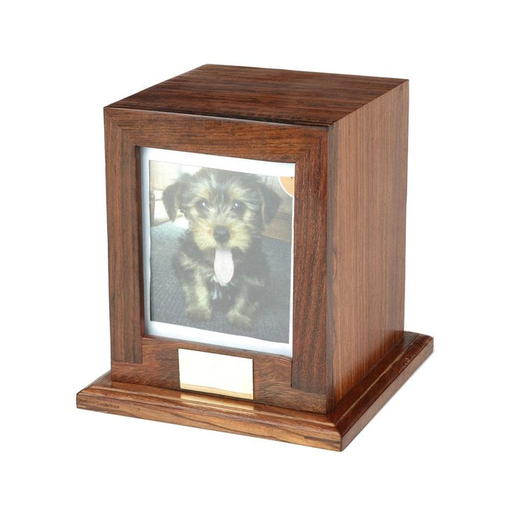 Custom Wood Personalized Engraved Photo Frame Pet Urn, Dog Cat Memorial Keepsake Urn * Unbelievable dog item right here! : Dog Memorials