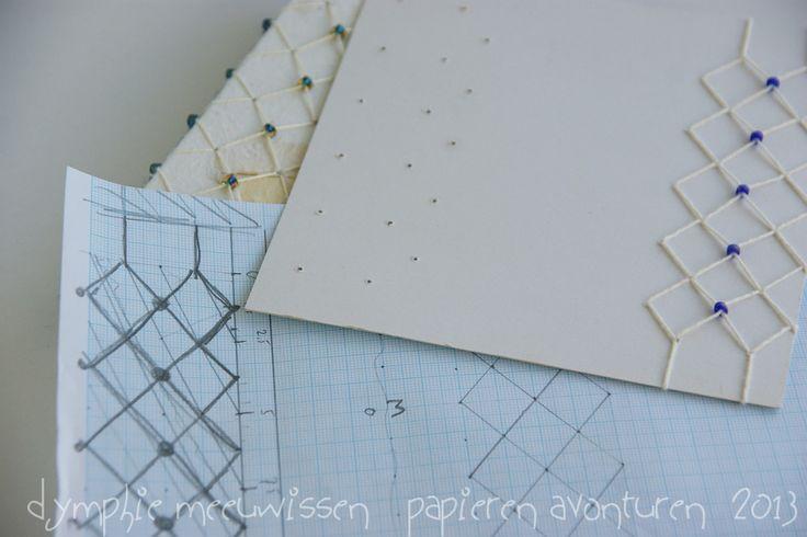 Papieren Avonturen: binding in japanse stijl japanese style binding
