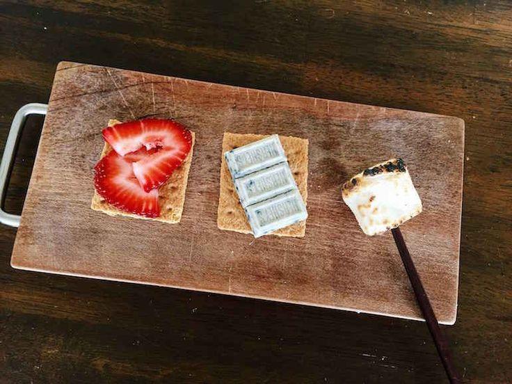 White Chocolate Strawberry S'mores