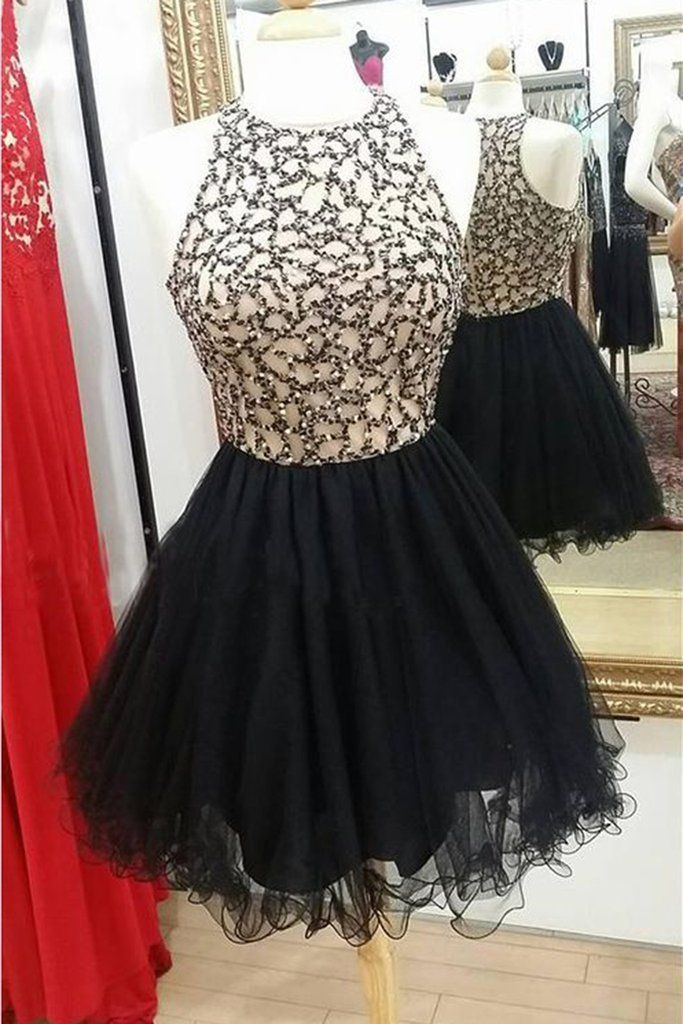 d027c1733e Stunning Two Piece Long Sleeves High Slit Black Lace Chiffon Prom ...