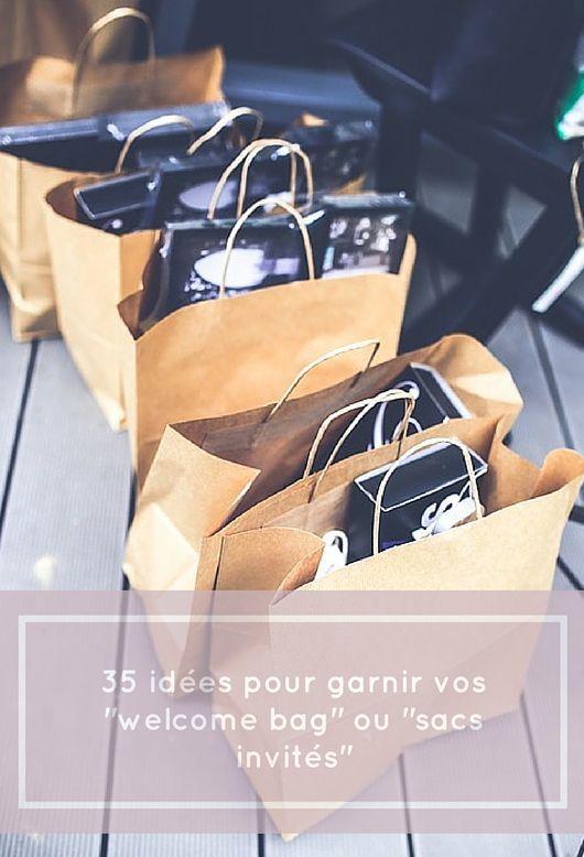 Des welcome bag seront distribués à vos invités le jour de votre mariage et vous ne savez pas comment les garnir ? Lisez ces 35 idées !